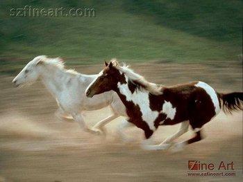 realistic animal design running horses painting buy running horses