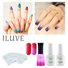 iLuve Nail Gel Polish Temperature Change Nail Polish Color UV LED Gel 12ml peel off gel polish with remover wrap+base&top coat