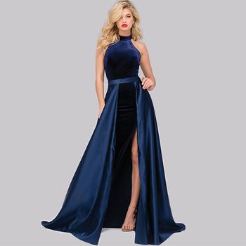 Comfortable Velvet Prom Dresses Overskirt Detachable Wedding Dress ...