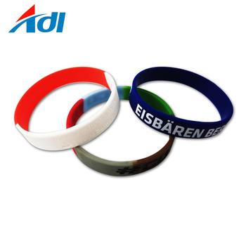 Promotional gifts charm  personalized silicone PVC sports bracelet for man