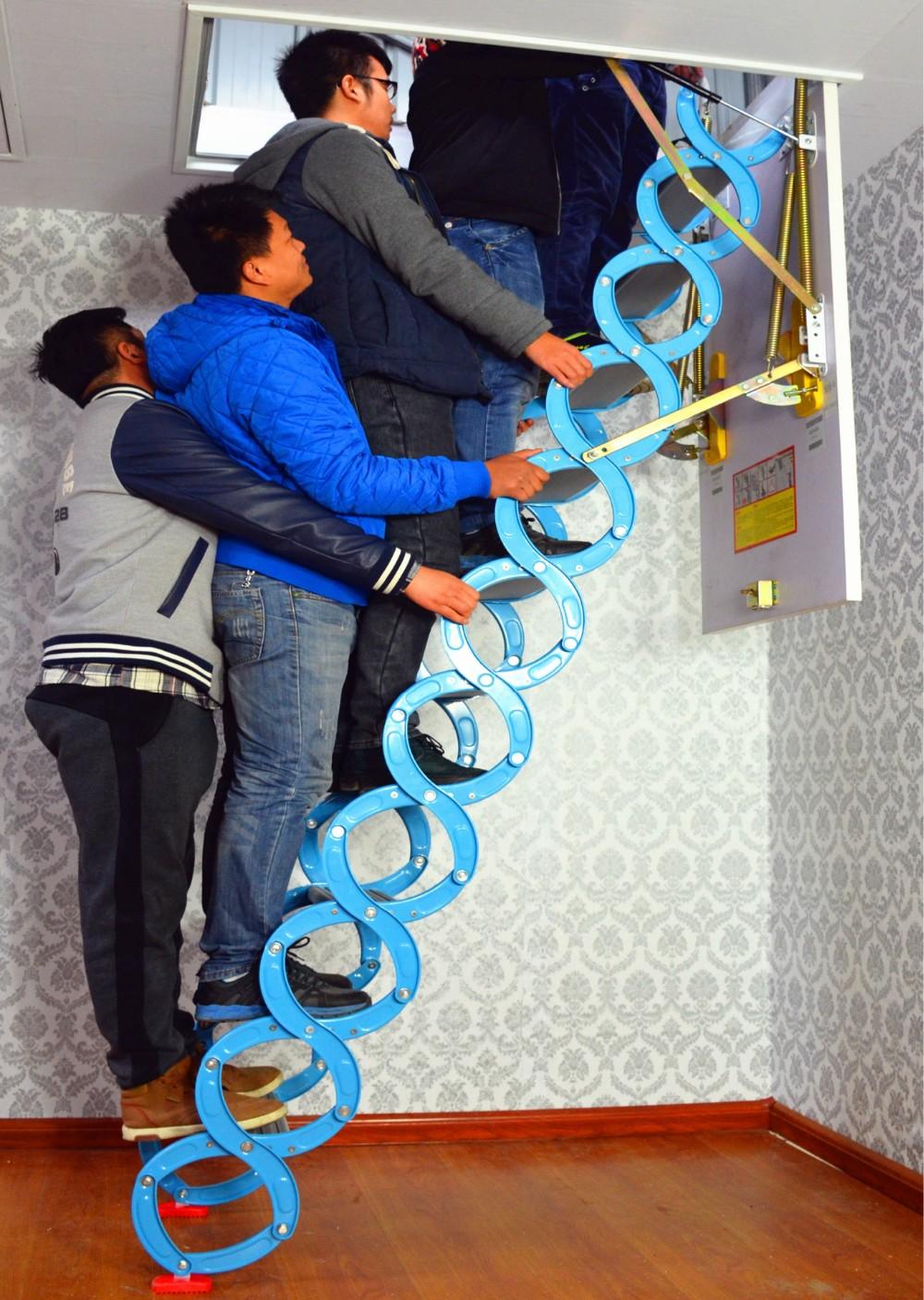 dachboden aufz ge teleskop versenkbare aluminium haushalt treppe leiter buy dachboden aufz ge. Black Bedroom Furniture Sets. Home Design Ideas