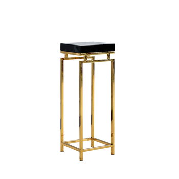 Modern Stainless Steel Tall Side Tables For Living Room Gold