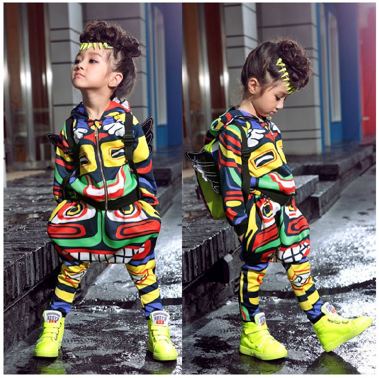 New fashion maya children's clothing set dance wear hot ...
