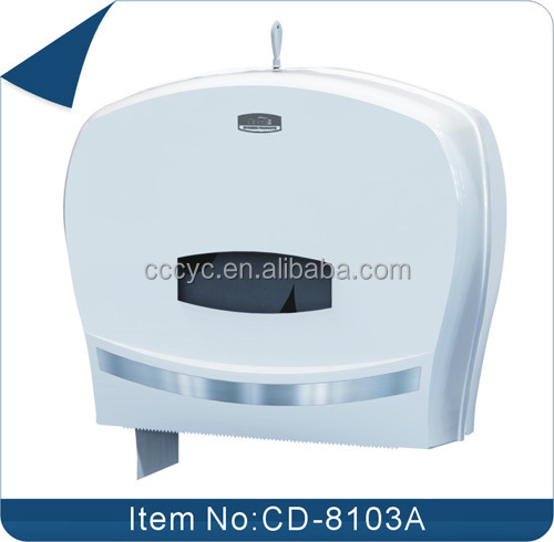 ABS Material Two Jumbo Rolls Toilet Paper Dispenser Single Jumbo Roll Toilet , Paper DispenserCD-8103B