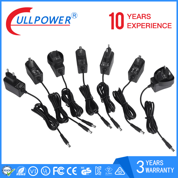 DOE VI 15v 12v ac power supply 24v 600ma 300ma 13v 500ma dc adapter safety certification