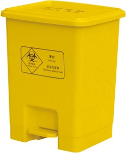 Factory sell plastic pedal medical use waste container