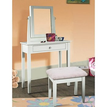 White Lacquer Bedroom Furniture Modren Dressing Table Chair And