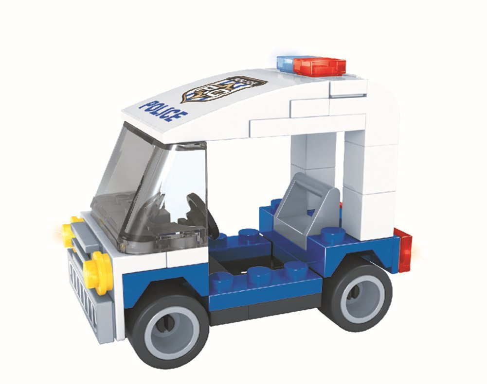Smarttoy Environmental ABS Material Children 57 Pieces DIY Police Patrol Car 3D Puzzle Toys