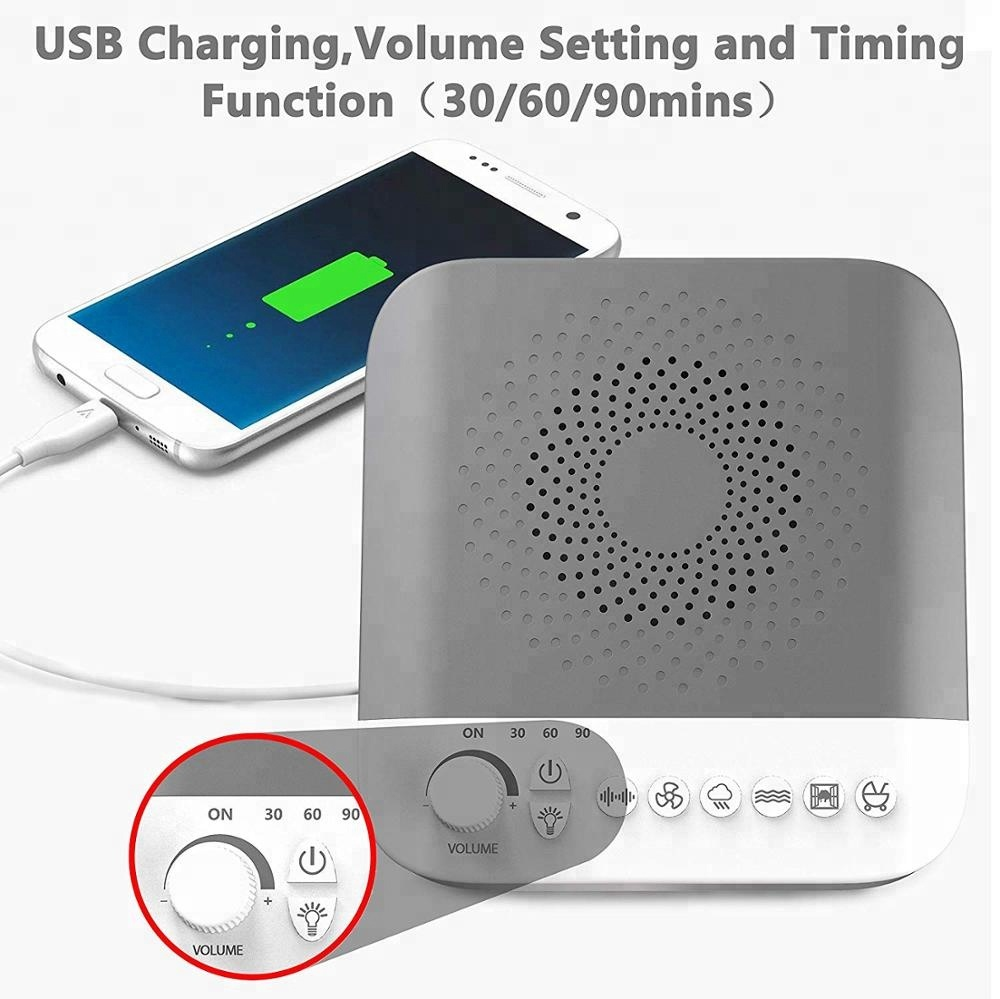 Blue Color White Noise Machine With Good Quality Speaker
