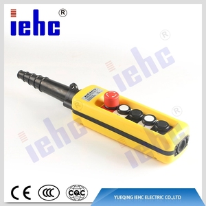 XAC series hot sell emergency stop single speed 660 voltage plastic rainproof crane push button switch remote-control unit