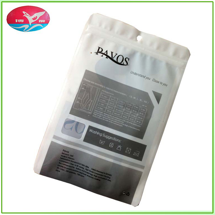 Support custom zipper sealed bag can be customized men's underwear ladies stockings packaging