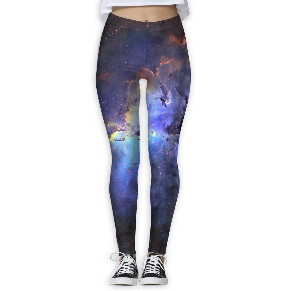 258c532dff5026 Get Quotations · Womens Galaxy Nebula Space Popluar Leggings Sports Yoga  Capris Sweatpants For Gym Hiking Running Trousers