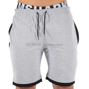 ecb529add7 cotton/polyester blend bermuda shorts sweat gym shorts men crossfit shorts