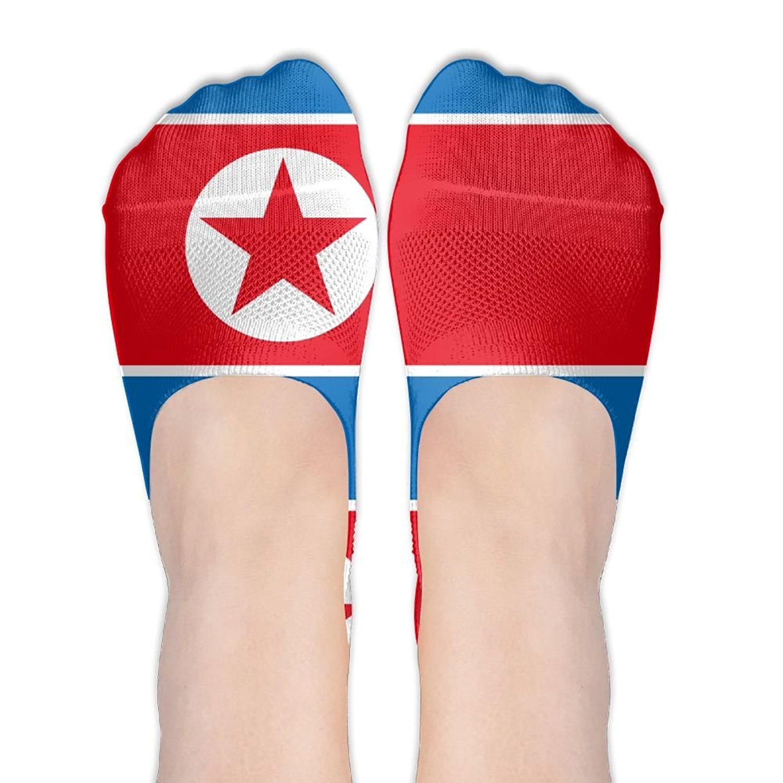 North Korea Flag With America Flag Casual Socks Crew Socks Crazy Socks Soft Breathable For Women Sports Athletic Running
