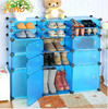Modern Bedroom folding portable wardrobe, 12 g box kids plastic wardrobe