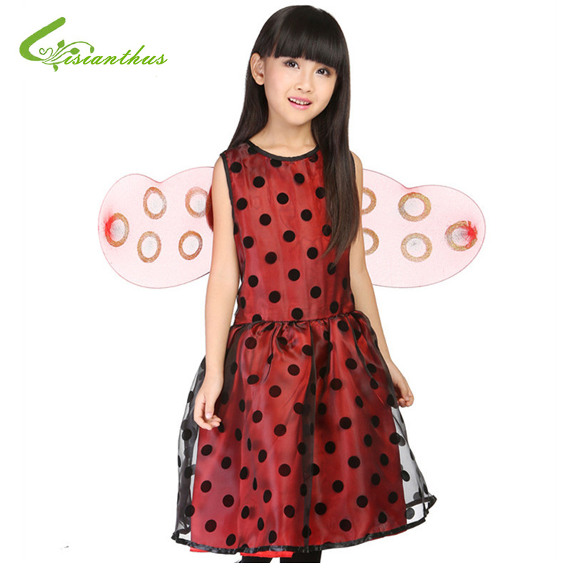 Girls Halloween Costumes Animals Ladybug font b Dress b font Wings Set Cosplay Stage Wear Clothing