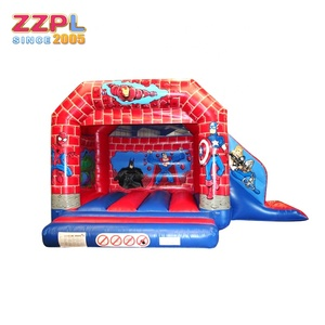 ZZPL Adventure inflatable jumping bed for sale Animals inflatable bouncer with slide Hot fun inflatable castle slide combo