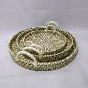 New style seagrass natural rush storage baskets