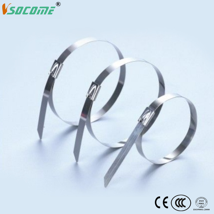 ball lock stainless steel cable tie