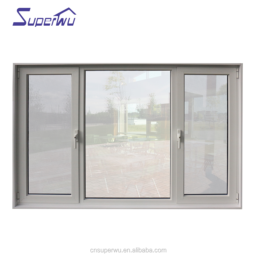 Luxury aluminium double open outside casement windows