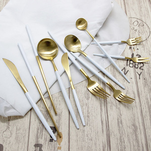 Rotal Tableware Kitchen Gold Cutlery Set Spoons Forks Knives Stainless Steel Cutlery Set