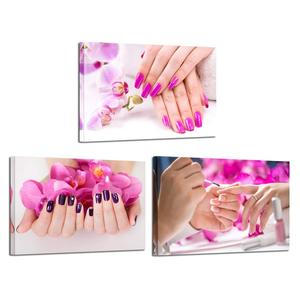 3 Panels Picture Wall art Decorations for living home Canvas painting Unframed Photo Prints Spa Nail Foot Massage Salon