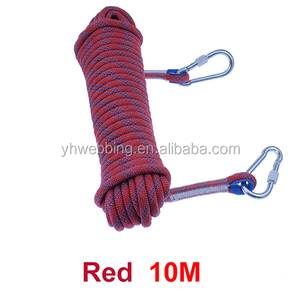 YH30 Professional Outdoor Rock Climbing Rope High Strength Cord Safety Ropes Hiking Accessory 10mm Diameter 12KN Strafety Ropes