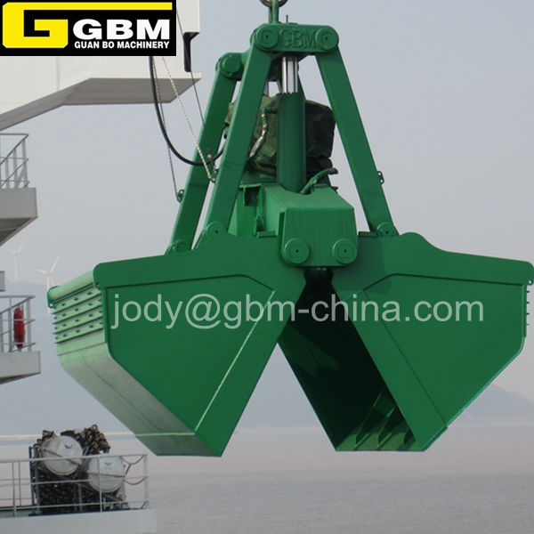 Efficient production 3-25m3 Bulk cargo Hydraulic grab bucket for crane