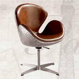 Living Room Aluminum Metal Rivets Wing Aviator Chair