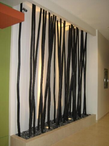 10 Feet Black Bamboo Poles Plastic Fence Artificial