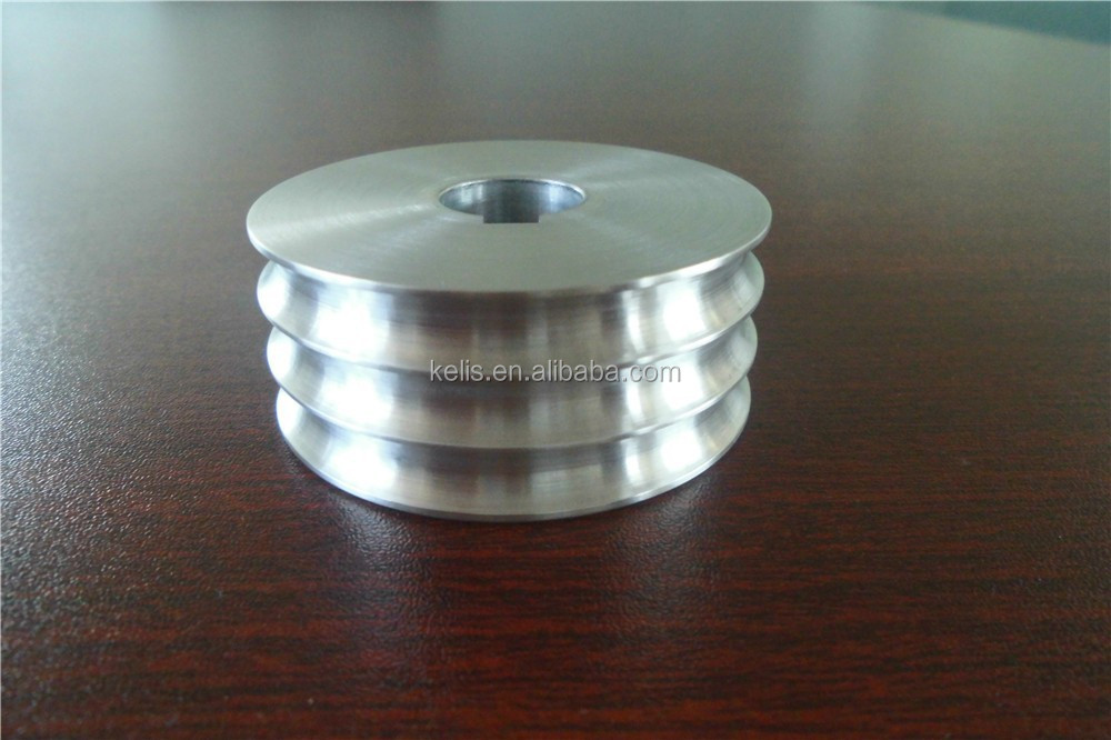 Xiamen Manufacturer CNC machining service, V5 50 3*6 Drive Pulley, machined Aluminum 6061