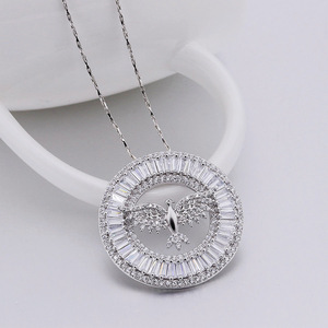 wholesale zirconia gold plated holy spirit necklace jewelry