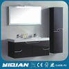 Hangzhou Factory Cabinet Supplier PU Painting Double Sink MDF Bathroom Cabinet