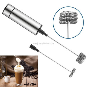 Stainless Steel Electric Foam Maker with Case for Coffee Tea Chocolate Milk Latte Bar Kitchen Home Cappuccino Dri