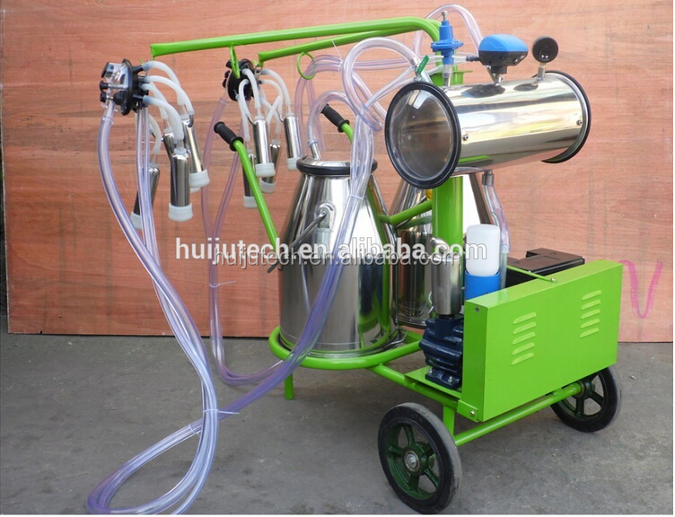 cock milking machine for sale/ double buckets vacuum pump cow milking  machine