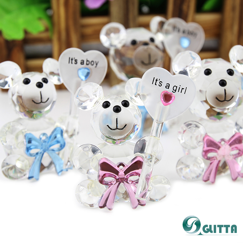 2018 wedding souvenirs Lovely Wedding favors,Crystal cute bear Wedding Favors,wedding gifts for guests CG001