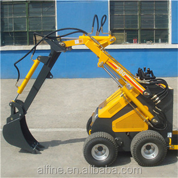 China manufacturer high efficiency mini skid loader