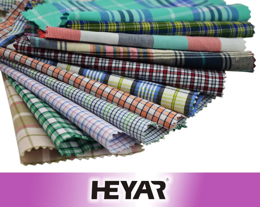 Wholesale Check Design 100% Cotton Yarn Dyed Shirting Fabric and Textile