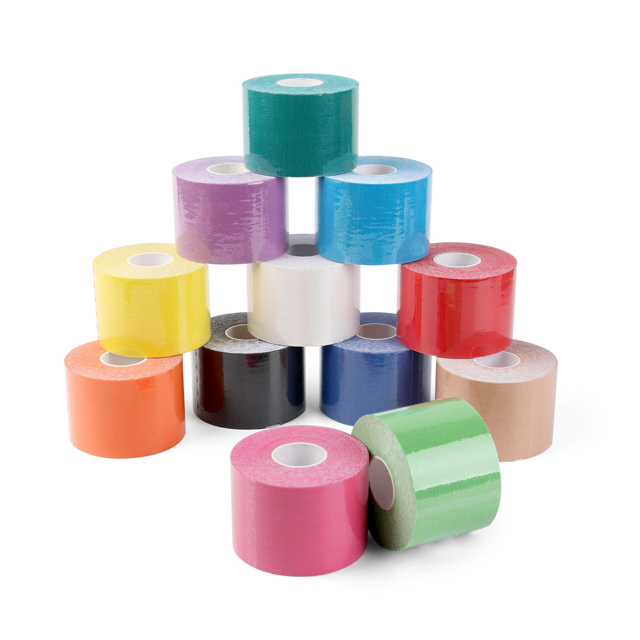 Waterproof adhesive medical tape for Athletes, physiotherapy Pre-cut Kinesiology Tape with FDA & CE approval, 12 most popular colors available.