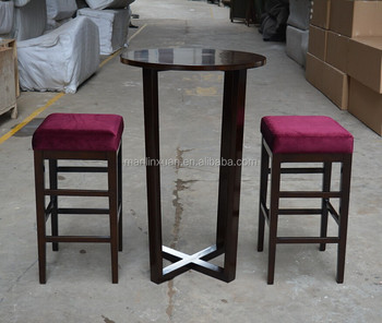 Wooden High Table And Bar Stool XYH1212