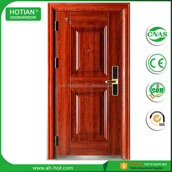 High Durable House Main Gate Design Single Steel Door Residential Doors -  Buy Steel Grill Door Design,Main Door Carving Designs,Kerala Steel Door
