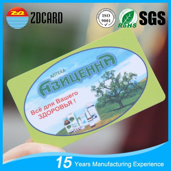 Customized fashion plastic pvc card manufacture in China