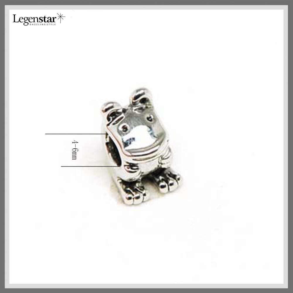 Customized Silver Plating Frog Shaped Charm Metal Spacer Beads SZ10053