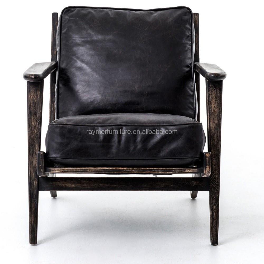 mid century modern brooks leather lounge chair buy modern swivel