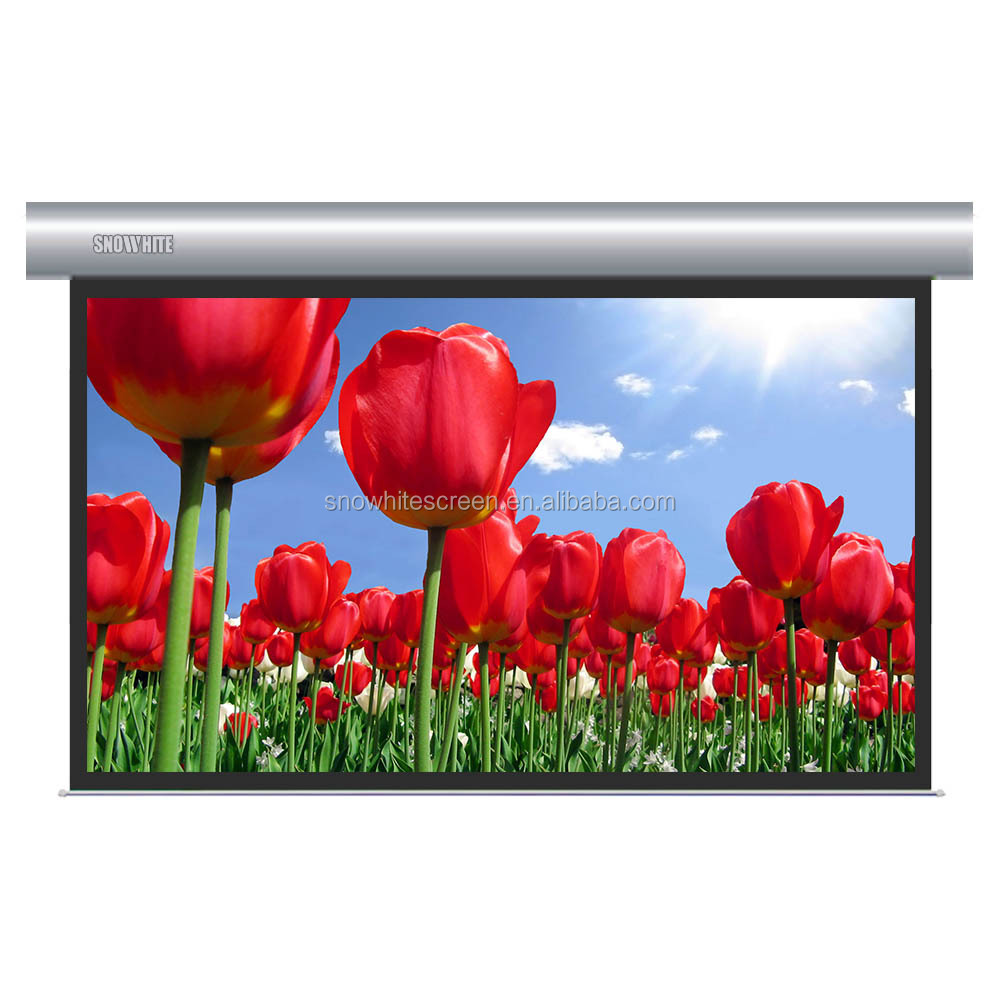 "SNOWHITE 96"" 16:9 Format SM096XEH-C(H) Luxurious Cinema Electric Projection Screen"