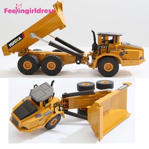 Wholesale Price Environmentally Friendly Materials Alloy Articulated Dump Truck Toy Vehicle Car