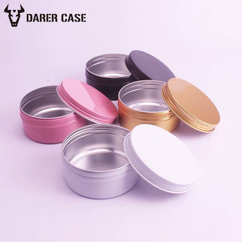 10/30/50/60/100/150/300g Empty Metal Aluminum Tin Jars for Cosmetic Gold Color Cosmetic Aluminum Jar