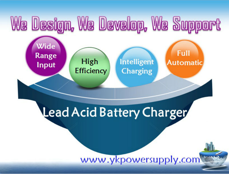 Small volume & Light weight 48v lead acid battery charger