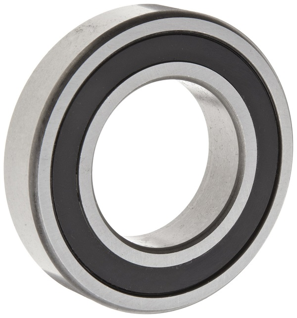 Deep Groove Ball Bearing 6200-2RS, ABEC-1, Z1V1 ,C0, Single Row, two contact rubber seals,SRL grease low noise ball bearing