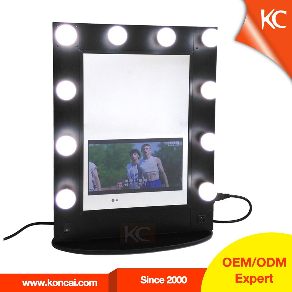 hollywood style espejo de tocador con luces led estilista espejos alrededor maquillaje teatral espejo con reproductor with espejos con luces led